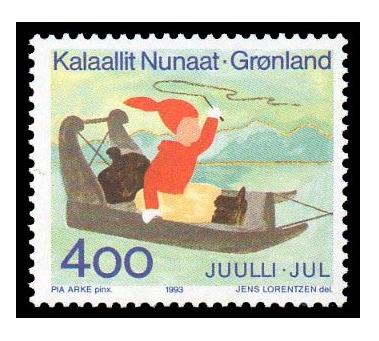 Гренландия. Рождество. Марка GL1993/13