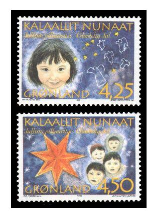 Гренландия. Рождество. Серия из 2 марок GL1996/17-18