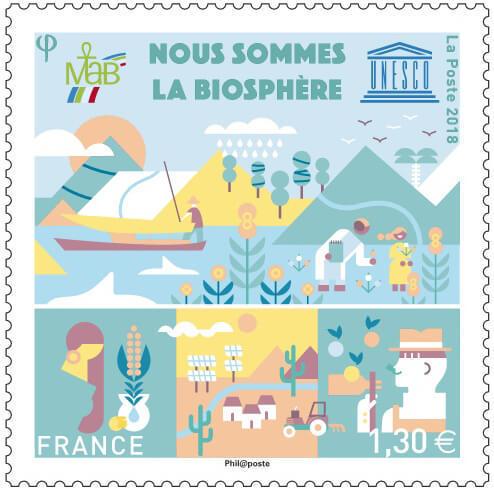 Франция. ЮНЕСКО. Мы - Биосфера. Марка FR2018/UNESCO1