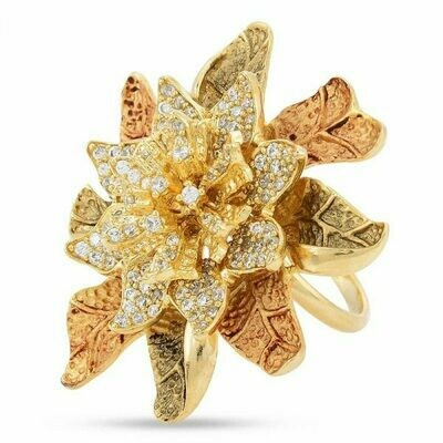 Floral Antique Cocktail Ring