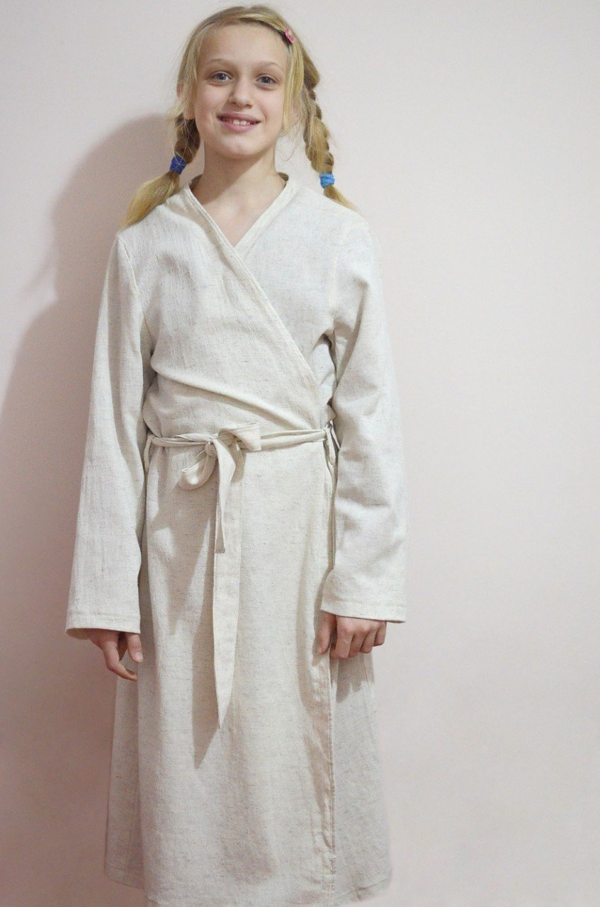 Women's Pre-Washed Pre-Shrunk Hemp Bathrobe