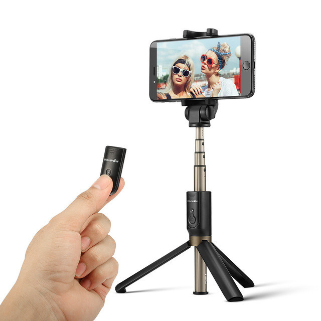 BlitzWolf 3 in 1 Wireless Bluetooth Selfie Stick Mini Tripod Extendable Monopod