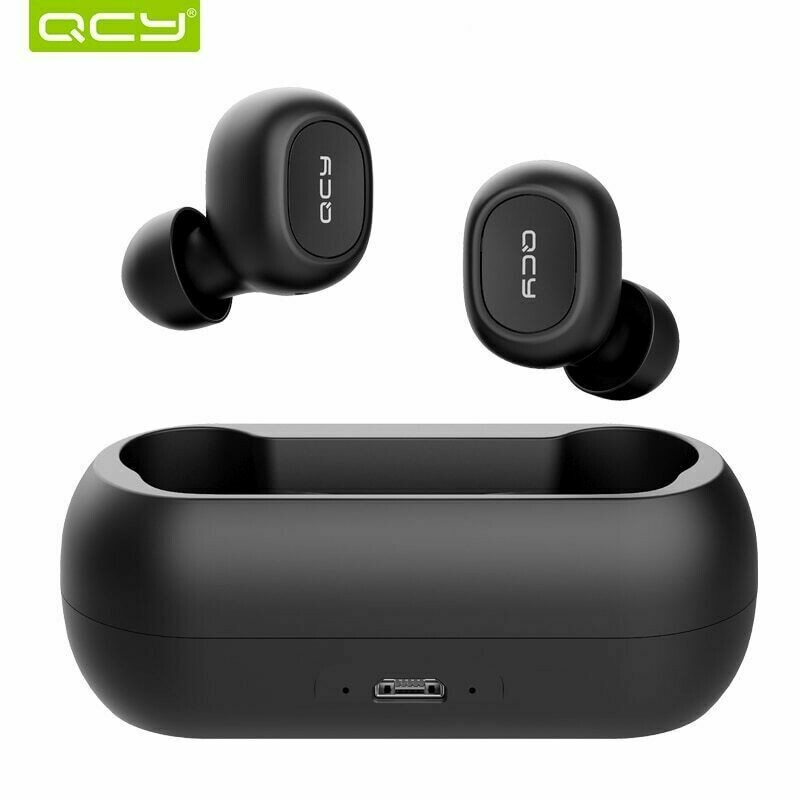 QCY QS1 T1C Mini Dual V5.0 Bluetooth Wireless Earphones with Dual Microphone and Charging box