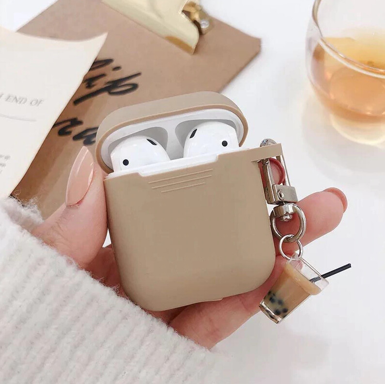 Milk Tea Pendant Airpods Case Cover