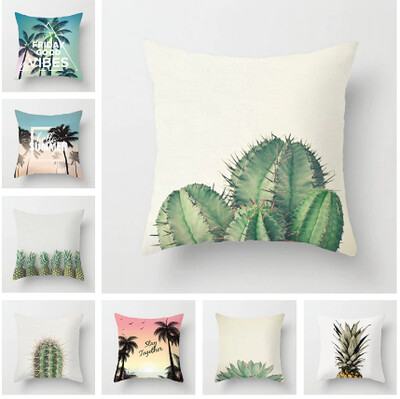 New Square Cushion Cover Plant Collection