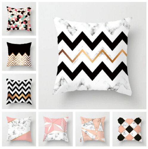 New Square Cushion Cover Geometric Collection