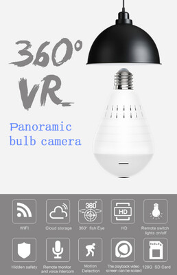 360 Degree Panoramic Bulb Camera