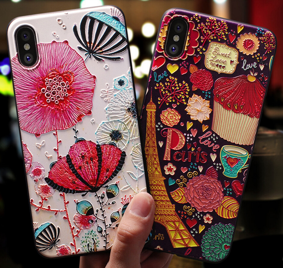 Cute 3D Emboss Patterned iPhone Case