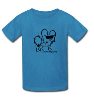Teal LARGE Cartoon Kids T-Shirt