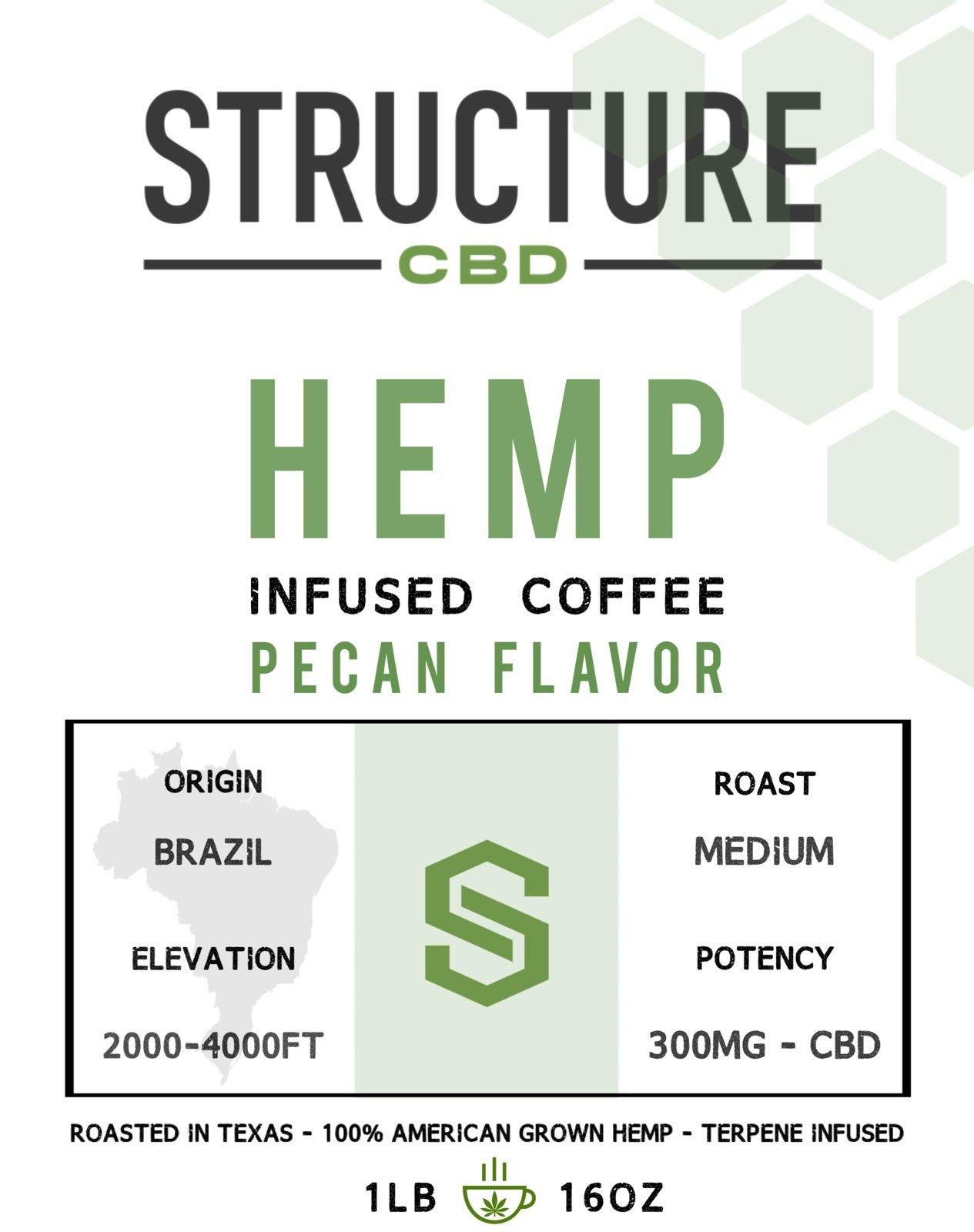 Structure Pecan Coffee 1lb 300mg COFPEC