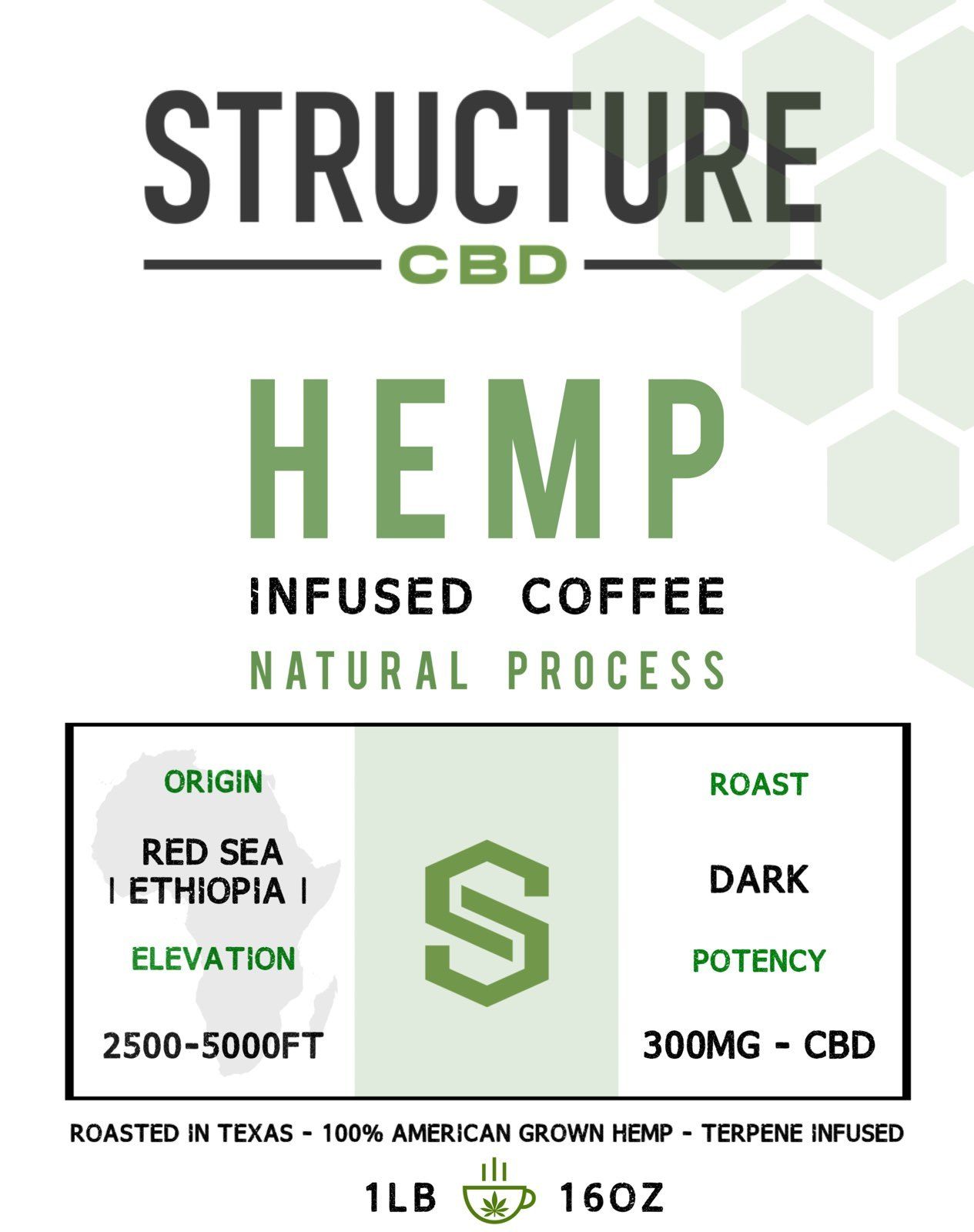 Structure Red Sea Blend Coffee 1lb 300mg COFFRDSE