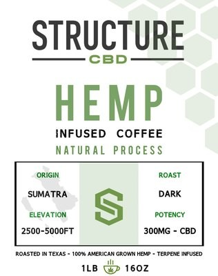 Structure Sumatra Coffee 1lb 300mg