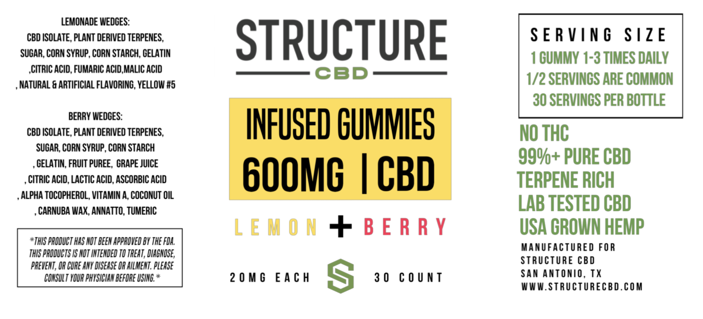 Structure Gummies - Lemon Berry SGUMLEM
