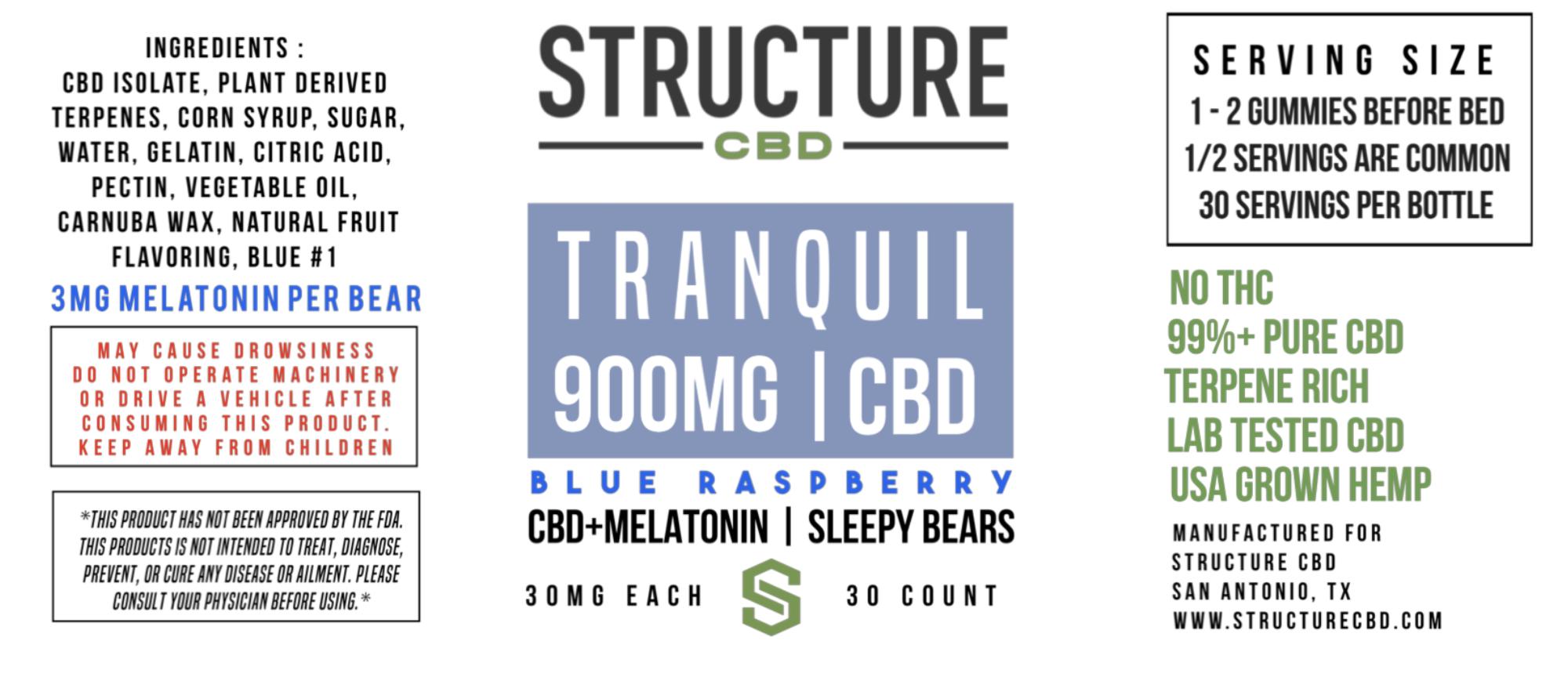 "Structure ""Sleepy Bear"" Gummies 30 MG"
