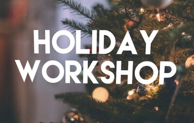 Winter Workshop - Holiday Gnome  Saturday December 7, 2019 11AM