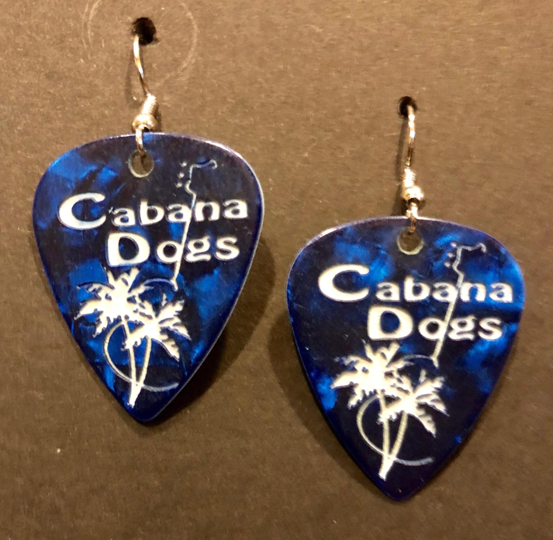 CD Guitar Pic earrings blue GPERBLU