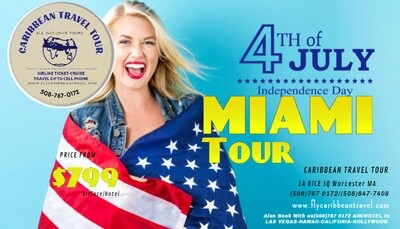 ​MIAMI 4th July/New year/Labor Day Deal Vacation Fligh /Hotel