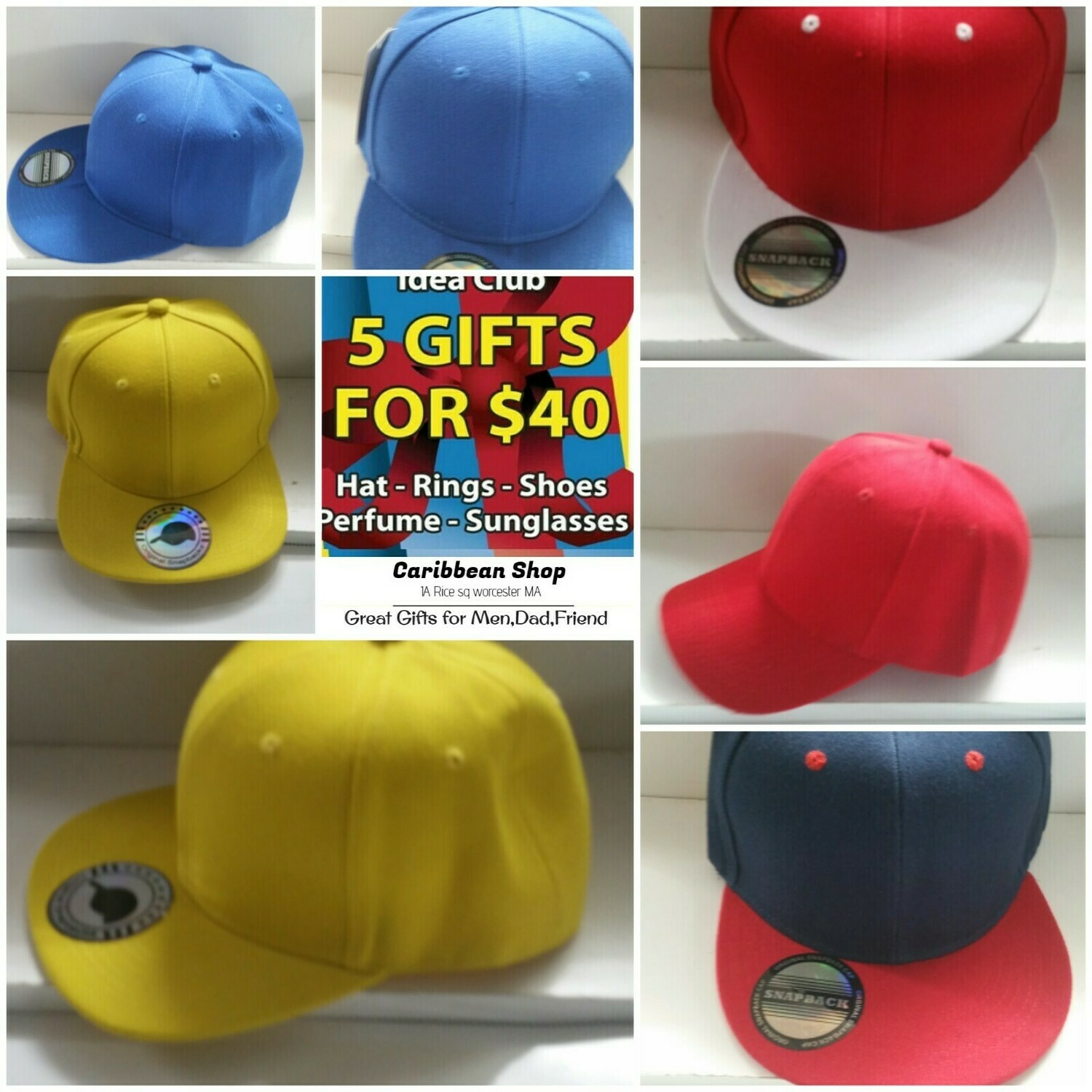 """Get 5 Different style """"Men's Hats"""""""