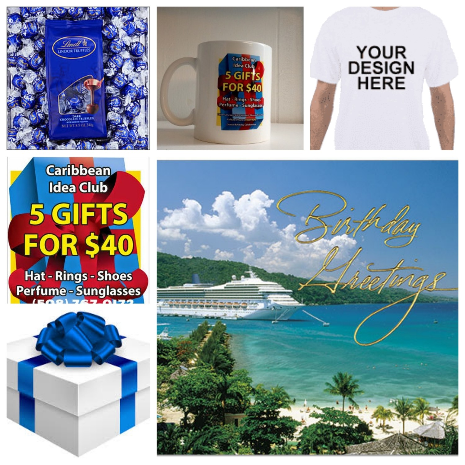 Cruise voucher & Cup cover with chocolate