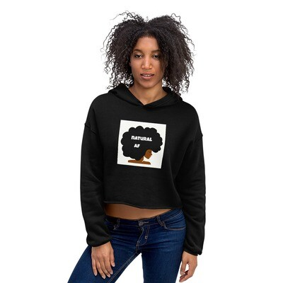 Crop Hoodie-natural af afro queen