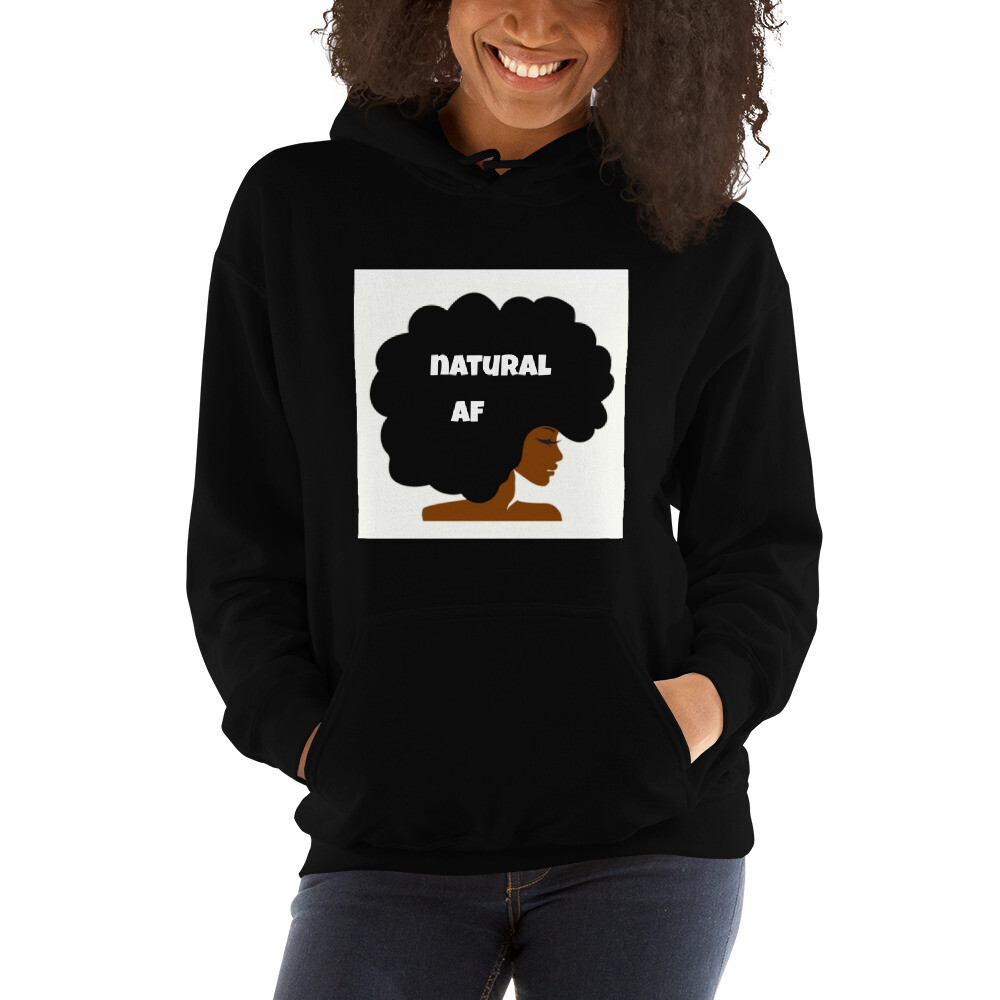 Unisex Hoodie-natural af afro queen
