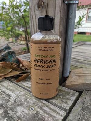 Rasta's Raw African Black Soap Shampoo & Body Wash