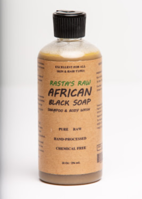 Rasta's Raw African Black Soap Shampoo & Body Wash