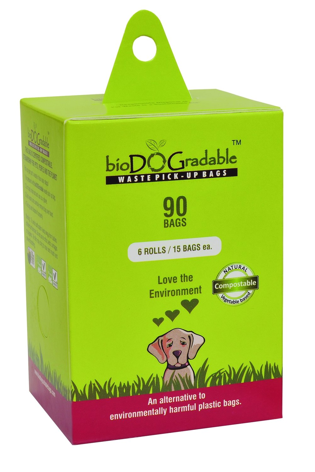 BioDOGradable Dog Bags 90
