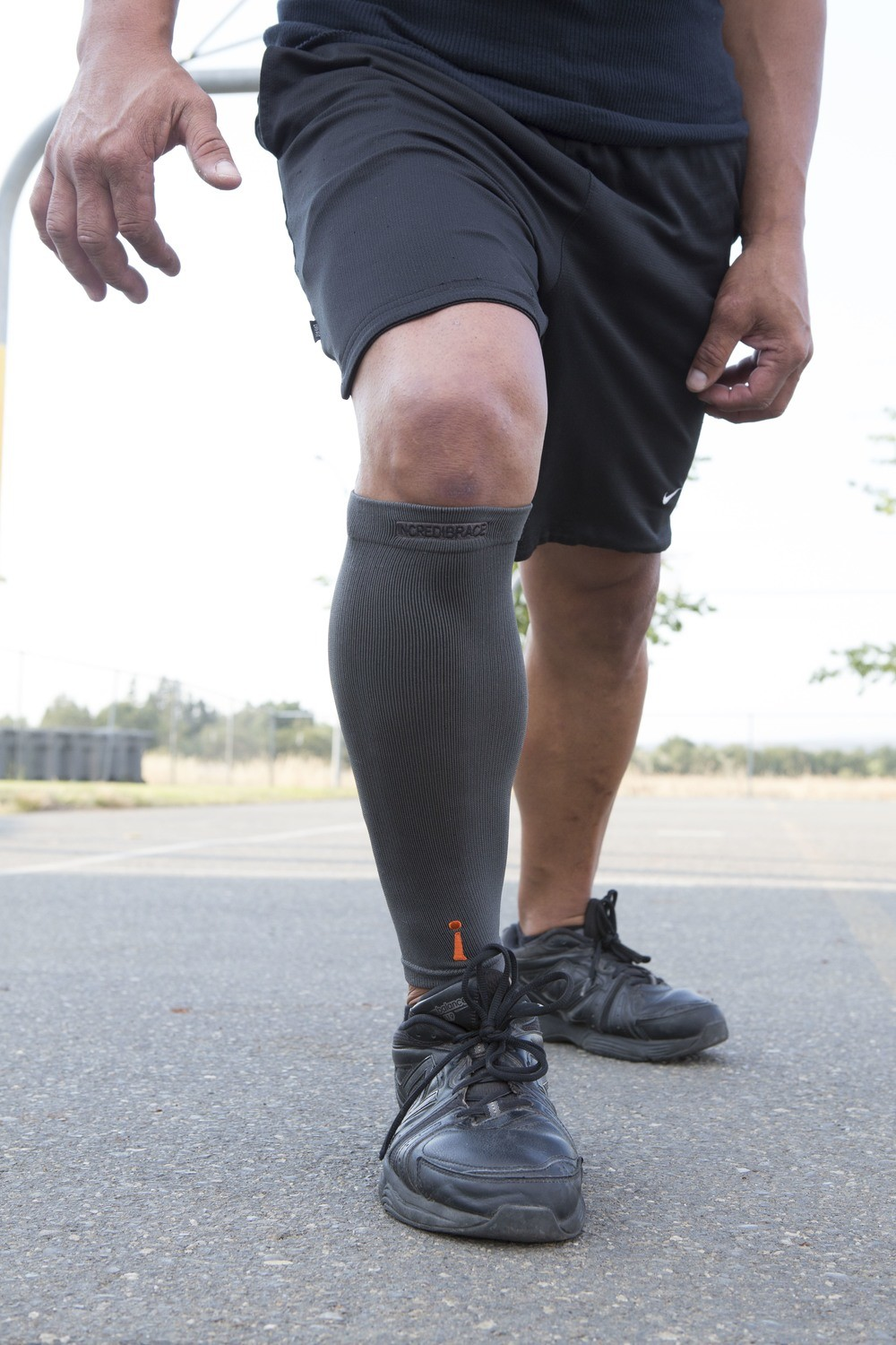 Calf performance brace with Carbonized bamboo TS101