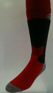 Winter Socks Red,  7 - 9.5 M, 8 - 10.5 W