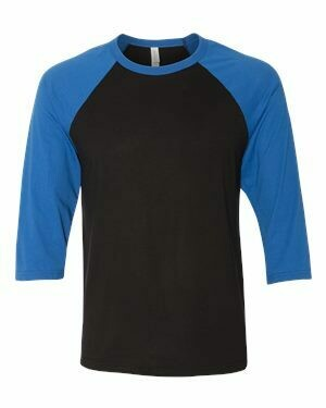 Adult 3/4 Baseball Sleeve T-Shirt