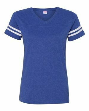 Women's Football V-Neck Jersey T-shirt