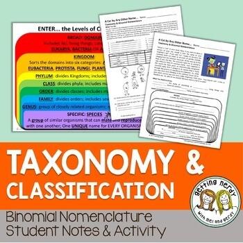 Binomial Nomenclature Notes & Activities