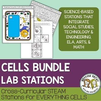 Cells Organelles & Processes Bundle - STEAM Science Centers / Lab Stations