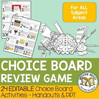 Choice Board Review - 24 Editable Activities for ANY Subject