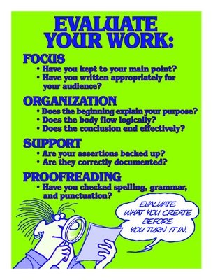 Evaluate Your Work