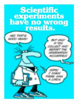 Scientific Experiments Have No Wrong Results