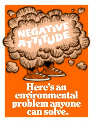 A negative attitude is easy to solve