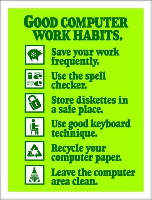 Good Computer Work Habits