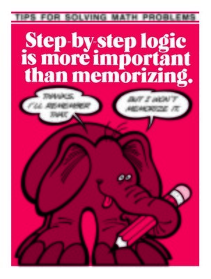 Step by Step Logic Better Than Memorization
