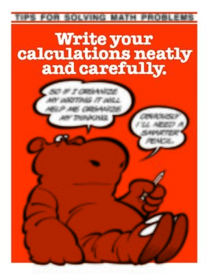 Write Your Calculations Neatly