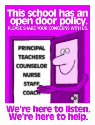 This school has an open door policy
