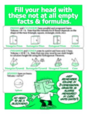 Formulas for 3-dimensional figures