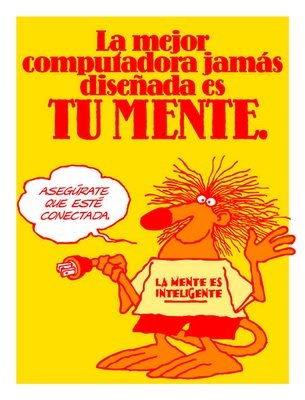 The greatest computer ever devised is your mind (Spanish)