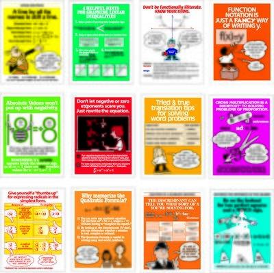 Algebra Tips Poster Set (12)