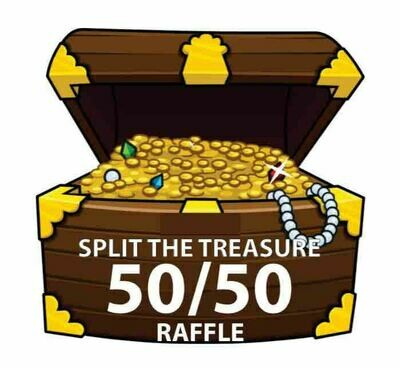 Split the Treasure 50/50 Raffle Ticket