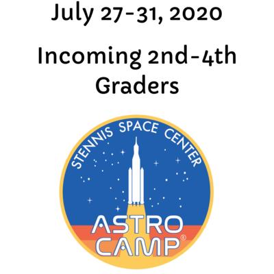 Astro Camp Registration July 27-31, 2020 (See Description Below for Important Information)