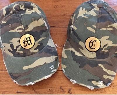 12f468e81315d Distressed Monogram Baseball Hat