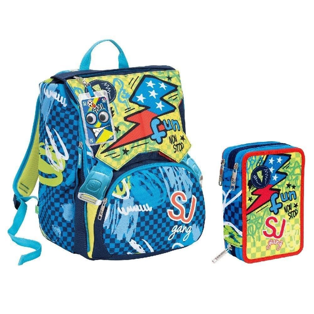 miglior sito web 6e67b e8985 Schoolpack Seven SJ Gang Boy Blu