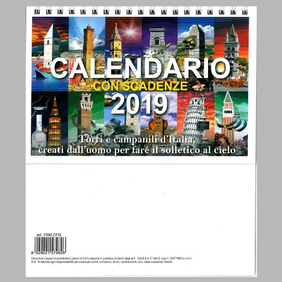 Scadenze Fiscali 2020 Calendario.Calendario Da Tavolo 2019 Con Scadenze Fiscali